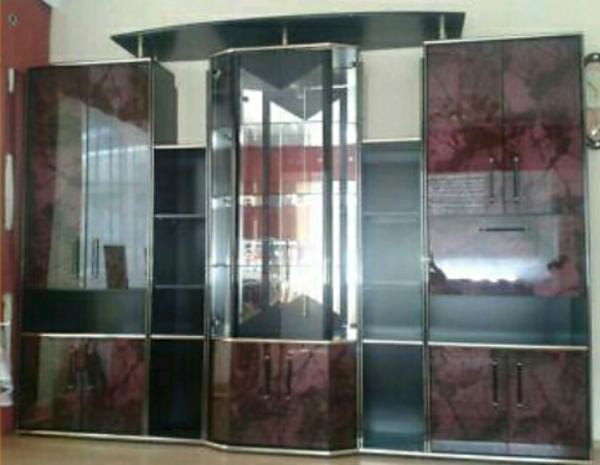 italienische wohnwand hochglanz in ansbach. Black Bedroom Furniture Sets. Home Design Ideas