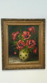 Jugendstil Gemälde Blumen