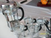 Kaffeedruckkanne-4 Gläser