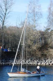 klassisches Holzboot