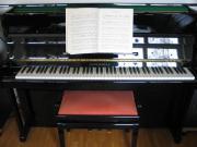 Klavier, schwarz, hochglanz