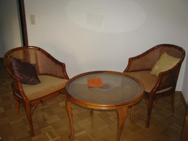 korbst hle tisch st hle chippendale wiener geflecht sessel sitzgruppe flechtm bel in mainz. Black Bedroom Furniture Sets. Home Design Ideas