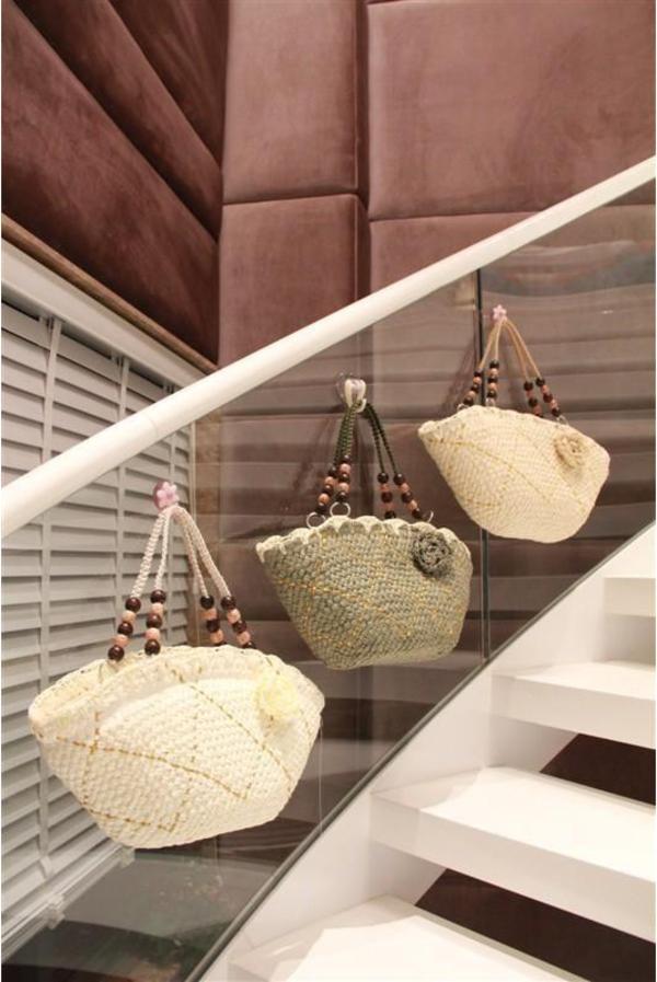 korbtasche rattantasche strohtasche blume tote bag uni. Black Bedroom Furniture Sets. Home Design Ideas