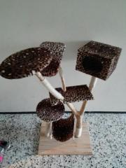 Kratzbaum Echtholz Einzelstück