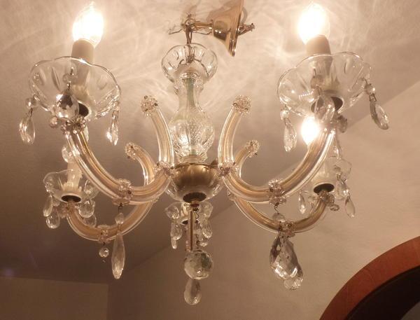 kristalll ster antiker kronleuchter l ster maria theresia 5 flammig in m nchen lampen kaufen. Black Bedroom Furniture Sets. Home Design Ideas