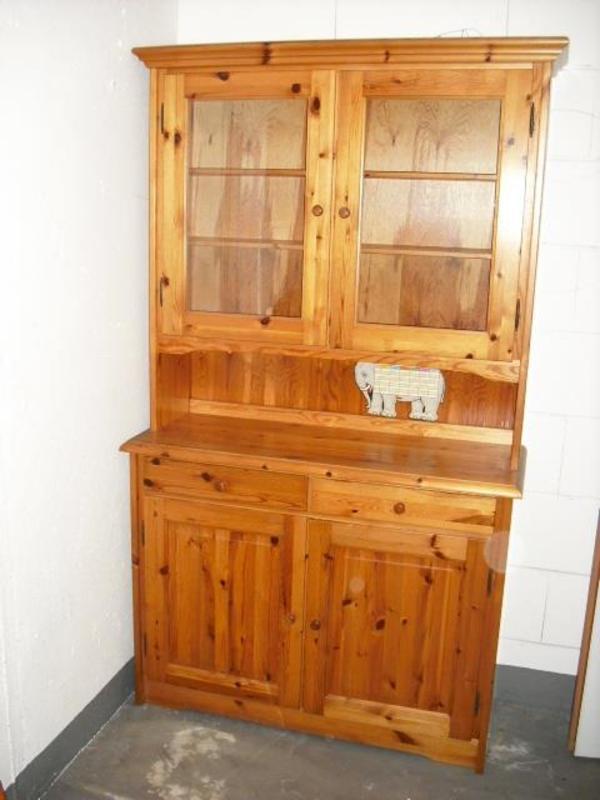 k chen esszimmer vitrine in 53840 troisdorf bei bonn massiv holz kiefer ma e h he 2 0m. Black Bedroom Furniture Sets. Home Design Ideas
