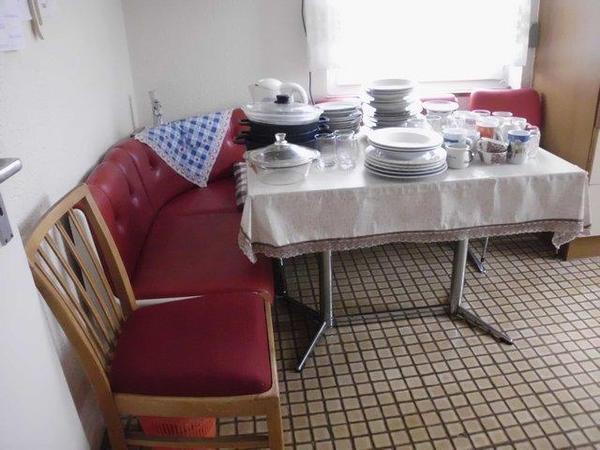 Kucheneckbank tisch und zwei stuhle in vaihingen for Kücheneckbank