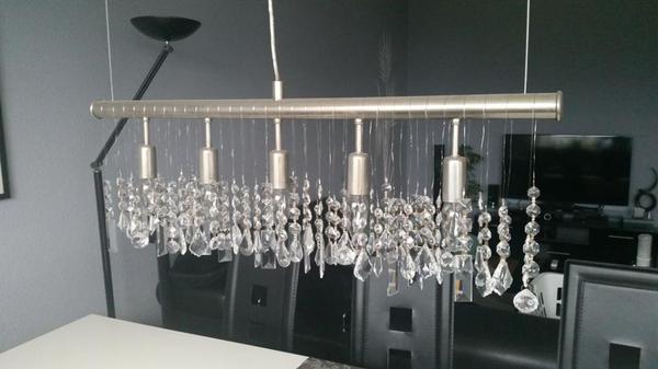 lampe elegante esstischlampe mit kristallen zu verkaufen. Black Bedroom Furniture Sets. Home Design Ideas