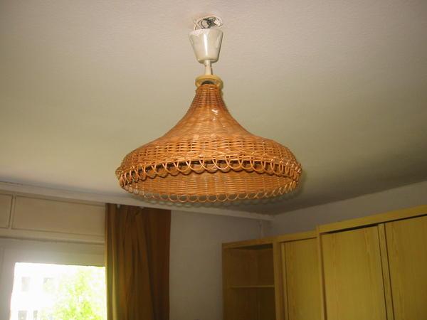 Lampenschirm aus peddigrohr in stuttgart kaufen und for Lampen stuttgart