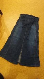 langer Schwangerschafts- Jeansrock
