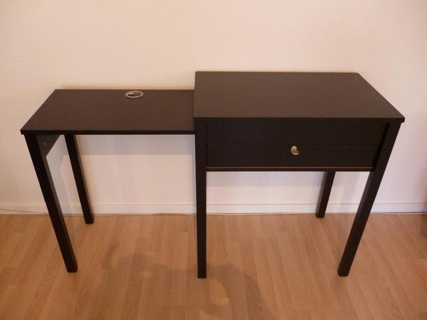 laptop tisch beistelltisch schwarzbraun in ludwigsburg ikea m bel kaufen und verkaufen ber. Black Bedroom Furniture Sets. Home Design Ideas