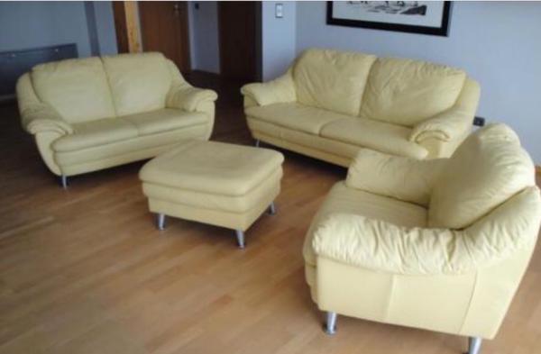 ledergarnitur natuzzi sofa couch 3er 2er sessel u hocker. Black Bedroom Furniture Sets. Home Design Ideas