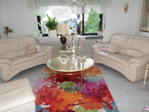 letzte gelegenheit f r komp echt leder couchgarnitur in. Black Bedroom Furniture Sets. Home Design Ideas