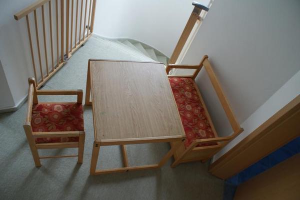 Maltisch mit stuhl und bank in jesteburg kinder for Jugendzimmer stuhl