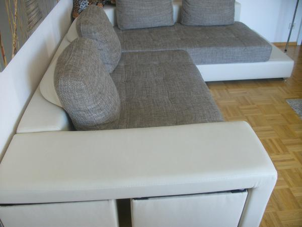 wohnlandschaft queens ecksofa sofa moderne polsterecke eckcouch schlaffunktion ebay. Black Bedroom Furniture Sets. Home Design Ideas