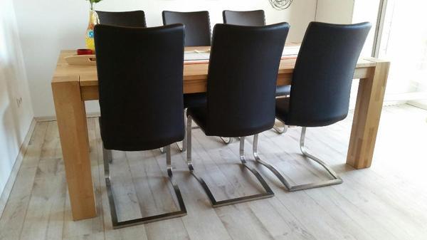 Holztisch massiv neu und gebraucht kaufen bei for Esstisch 1m breit