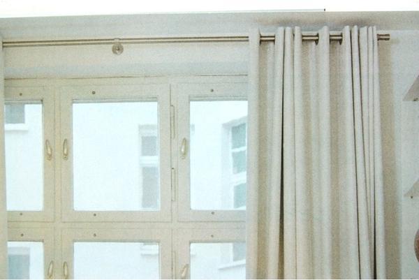 wegen eines umzugs moderne vorhangstange edelmetall l nge 1 41m durchm 3 cm ideal f r. Black Bedroom Furniture Sets. Home Design Ideas