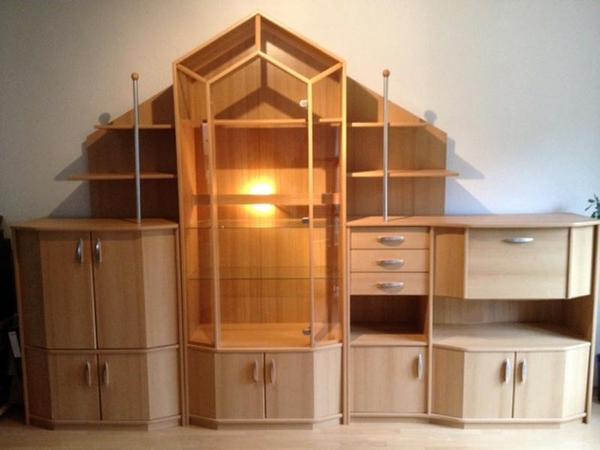 wohnzimmer schrankwand gebraucht raum und m beldesign. Black Bedroom Furniture Sets. Home Design Ideas