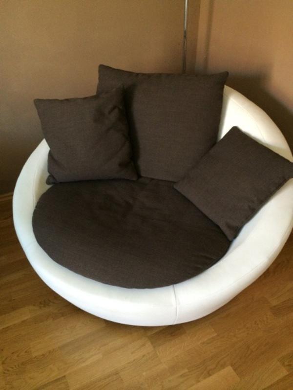 moderner wei er sessel. Black Bedroom Furniture Sets. Home Design Ideas