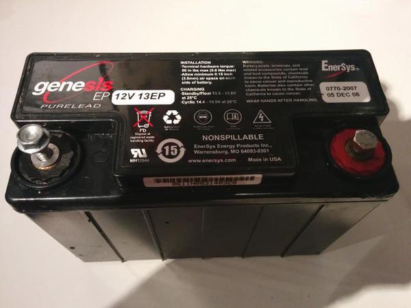 motorrad batterie enersys genesis 12v 13ep in nieder olm. Black Bedroom Furniture Sets. Home Design Ideas