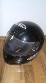 Motorradhelm, Integralhelm, schwarz,