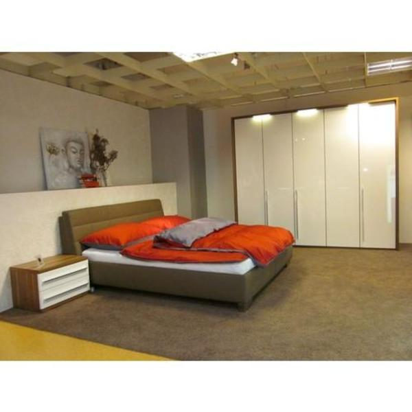musterring valmont leder bett 160x200 grau mit bettkasten in m nchen betten kaufen und. Black Bedroom Furniture Sets. Home Design Ideas