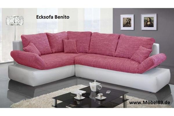 Neu ecksofa eckcouch sofa couch lieferung m glich mit for Polster ecksofa