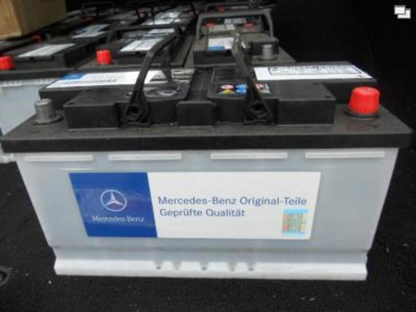 neue original mercedes autobatterie 100 ah batterie. Black Bedroom Furniture Sets. Home Design Ideas