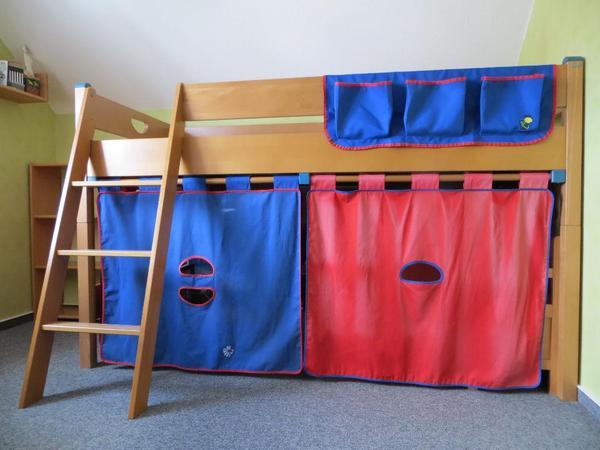 paidi varietta spielbett 125 cm mit umbausatz zum hochbett. Black Bedroom Furniture Sets. Home Design Ideas