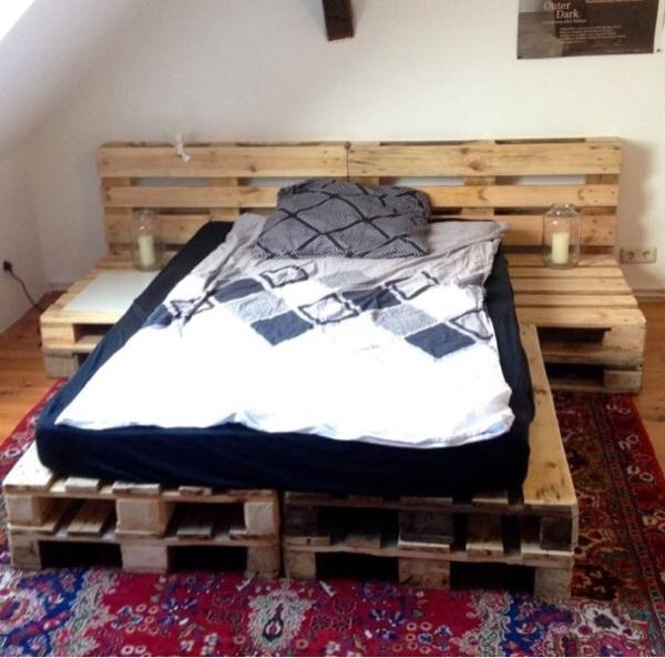 palettenbett inklusive matratze in ebsdorfergrund betten. Black Bedroom Furniture Sets. Home Design Ideas