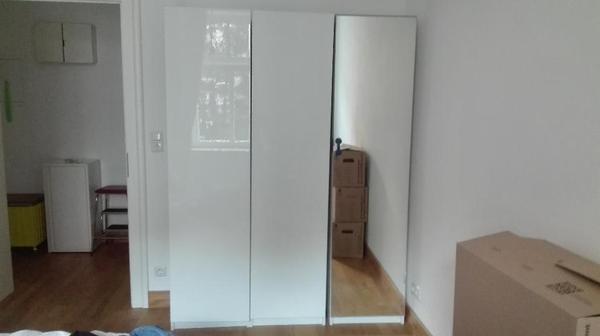 t r aber eher 40x50x201cm also insgesamt 40x150x201cm zwei korpusse haben wei e hochglanz. Black Bedroom Furniture Sets. Home Design Ideas