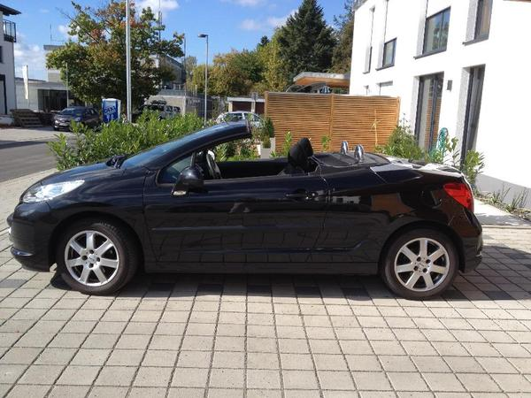 peugeot 207 cc schwarz in kaiserslautern peugeot cabrio. Black Bedroom Furniture Sets. Home Design Ideas