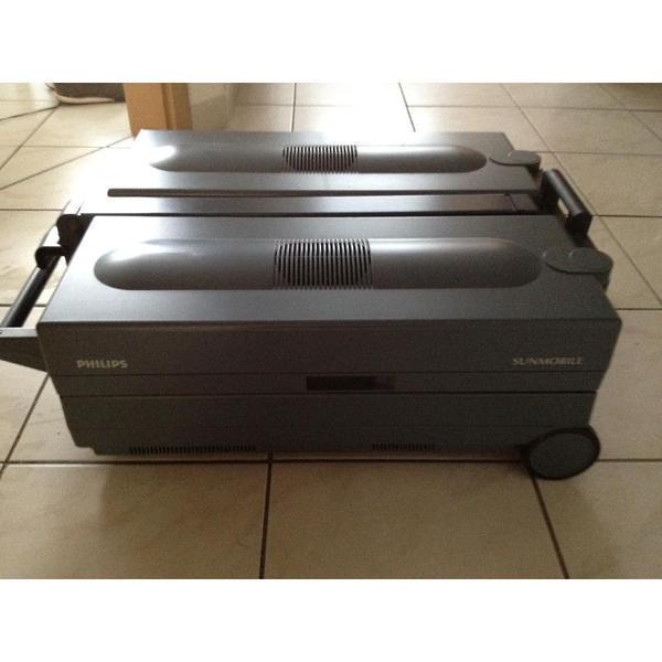 Solarium Lampen Kaufen: Philips Sunmobil HB 851 Grau ,zusammengeklappt 75x52x25 In