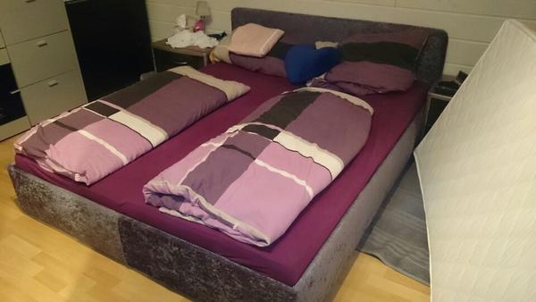polsterbett 160x200 inkl lattenrost und matratzen in herzogenaurach betten kaufen und. Black Bedroom Furniture Sets. Home Design Ideas
