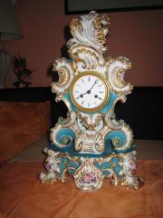 Porzellan Kamin Uhr