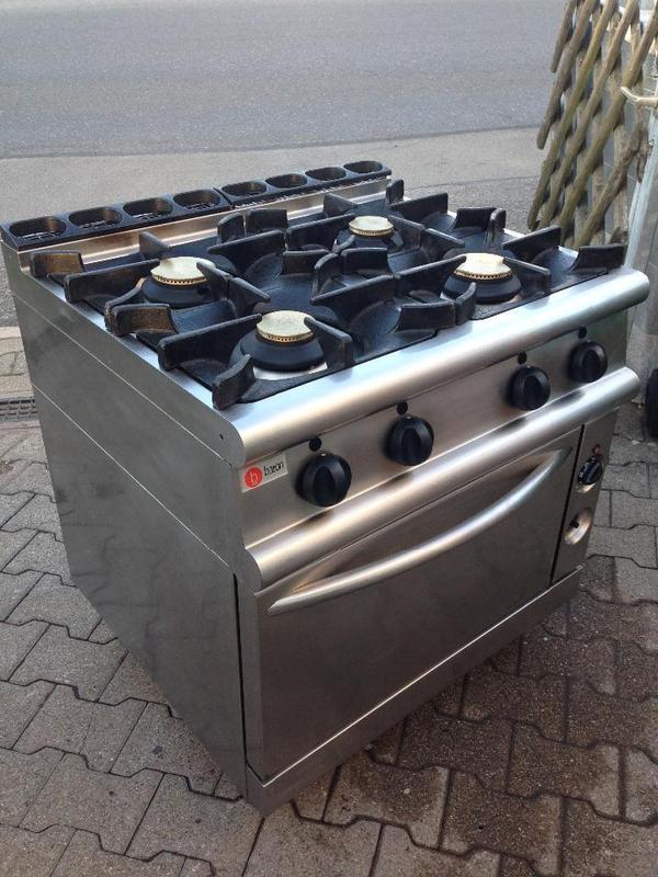 profi gastronomie baron gasherd gasofen 4 flammen. Black Bedroom Furniture Sets. Home Design Ideas