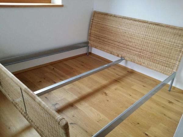 ikea rattan bett. Black Bedroom Furniture Sets. Home Design Ideas