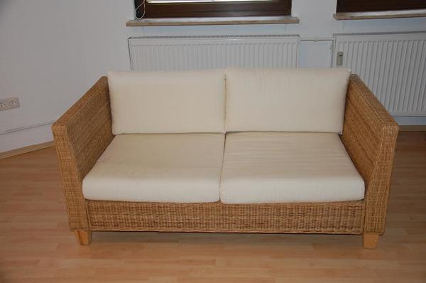 rattan couch sofa zweisitzer von ikea in h chst. Black Bedroom Furniture Sets. Home Design Ideas