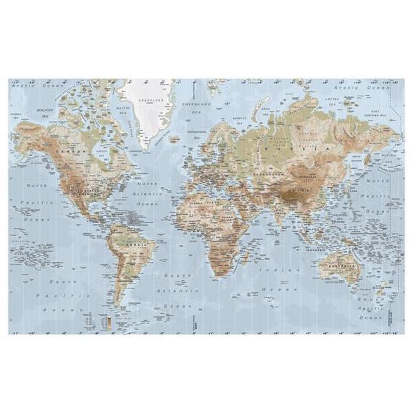 Riesige weltkarte premi r von ikea leinwand for Weltkarte poster ikea