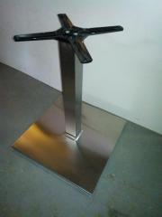 Säulen-Tischgestell Edelstahl