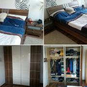 Schlafzimmer mit Doppelbett,