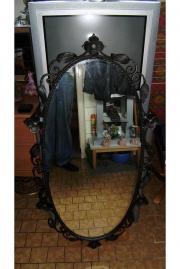 Schmiedeeisene Spiegel / Blüten-