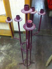 Schmiedeeiserner Kerzenständer