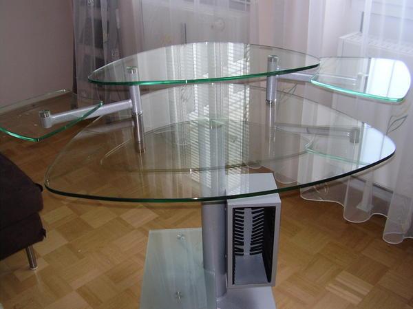 schreibtisch aus glas in germering b rom bel kaufen und. Black Bedroom Furniture Sets. Home Design Ideas