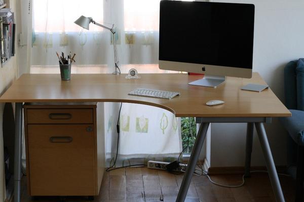 Schreibtisch Ikea Galant Birke ~ Schreibtisch Ikea Galant Ecktisch rechts Birke furniert ca 4 Jahre alt