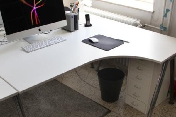 schreibtisch ikea galant wei ecktisch rechts. Black Bedroom Furniture Sets. Home Design Ideas