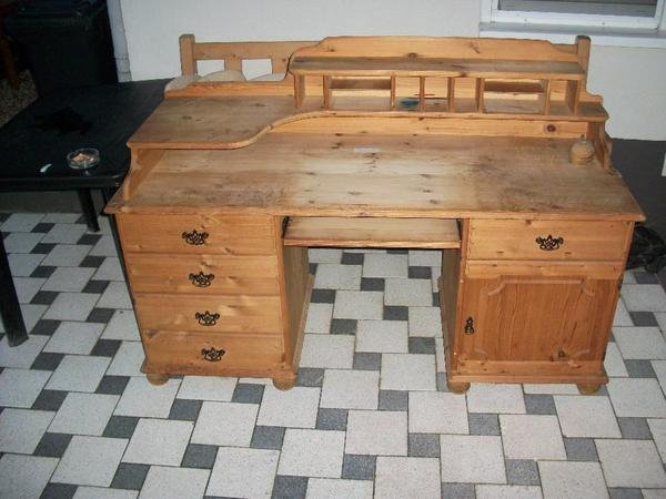 schreibtisch kiefer neu und gebraucht kaufen bei. Black Bedroom Furniture Sets. Home Design Ideas