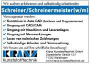 Schreiner/Schreinermeister(w/