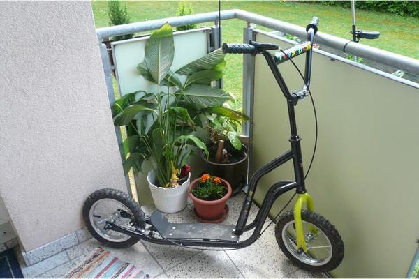 scooter roller mit luftbereifung f r kinder und erwachsene. Black Bedroom Furniture Sets. Home Design Ideas