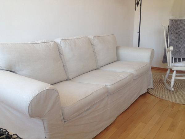 ikea ektorp dreisitzer hell beige guter zustand keinerlei flecken der bezug ist. Black Bedroom Furniture Sets. Home Design Ideas